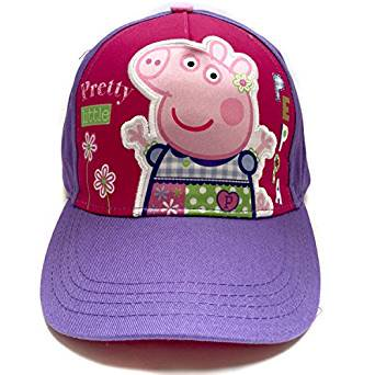 Baseball Cap - Peppa Pig - Purple Pretty Little Youth/Kids Size Hat 154855 - Pig Hat