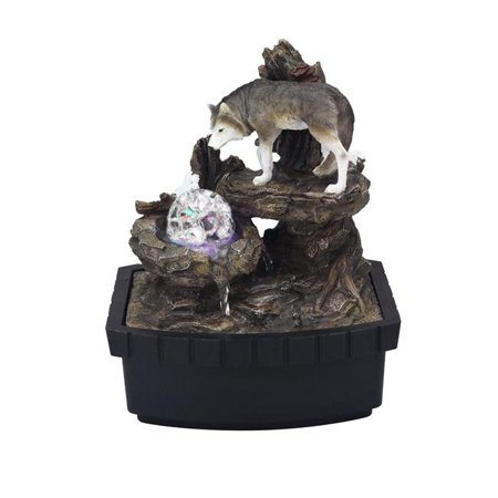 ORE International ORE-1226-1L 10.25 in. Wolf Table Fountain - image 1 de 1