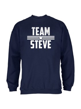 81fee3cce82 Product Image Civil War Team Steve Navy Adult Sweatshirt. Old Glory
