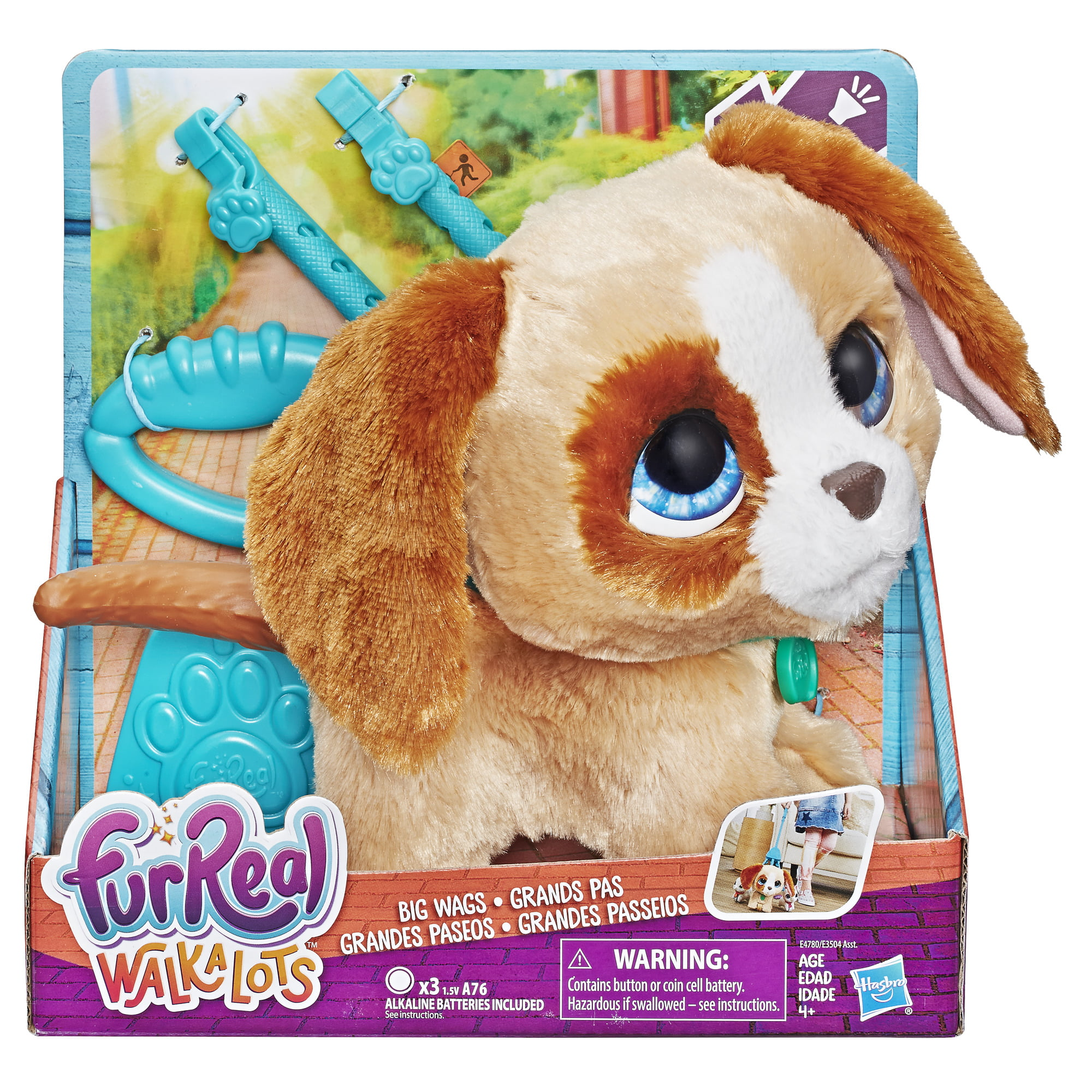 furReal Walkalots Big Wags Pup, for Kids Ages 4 and Up