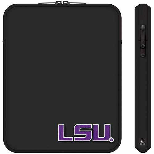 "Centon 10"" Classic Black Tablet Sleeve Louisiana State University"