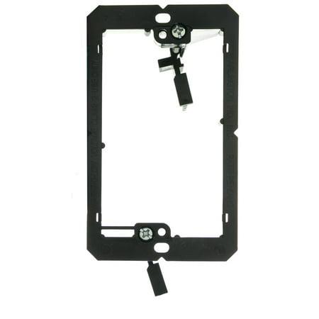 ACCL Nylon, Low Voltage Single Gang Wall Plate Mounting Bracket, 1pk