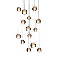 Lightupmyhome 14-Light Glass Globe Bubble Pendant Chandelier - N/A