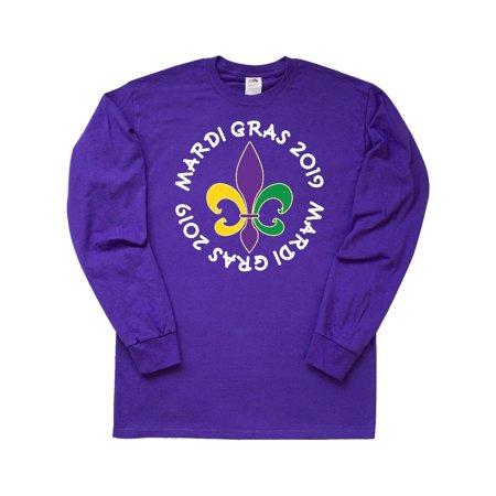 Mardi Gras 2019 Fleur De Lis Holiday Long Sleeve T-Shirt