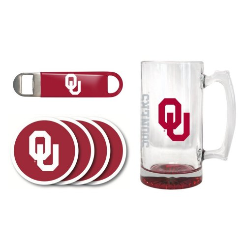 OU Sooners 25 oz. Beer Mug Gift Set by