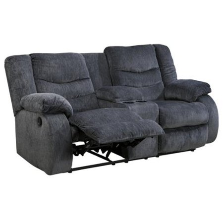Garek 9200194 76 Double Reclining Loveseat With Storage Console Cup Holders Padded Arms And