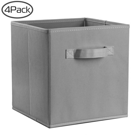 (4 Pack) Cloth Storage Bins - Cube Storage Bins - Organizers