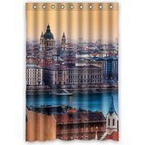 Hungarian Water - GreenDecor Beautiful View Budapest Hungary Waterproof Shower Curtain Set with Hooks Bathroom Accessories Size 48x72 inches