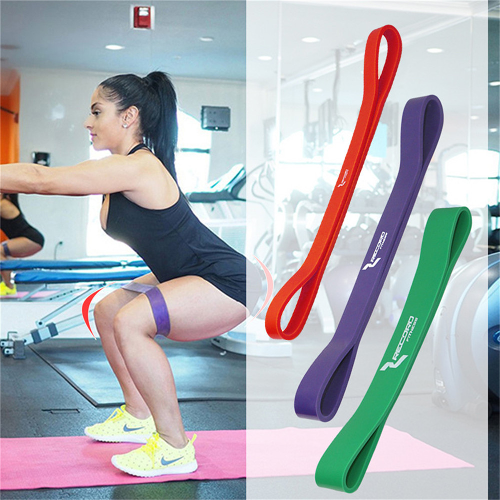 Stretch Exercise Resistance Loop Bands for Yoga Workout Power Gym Fitness Red