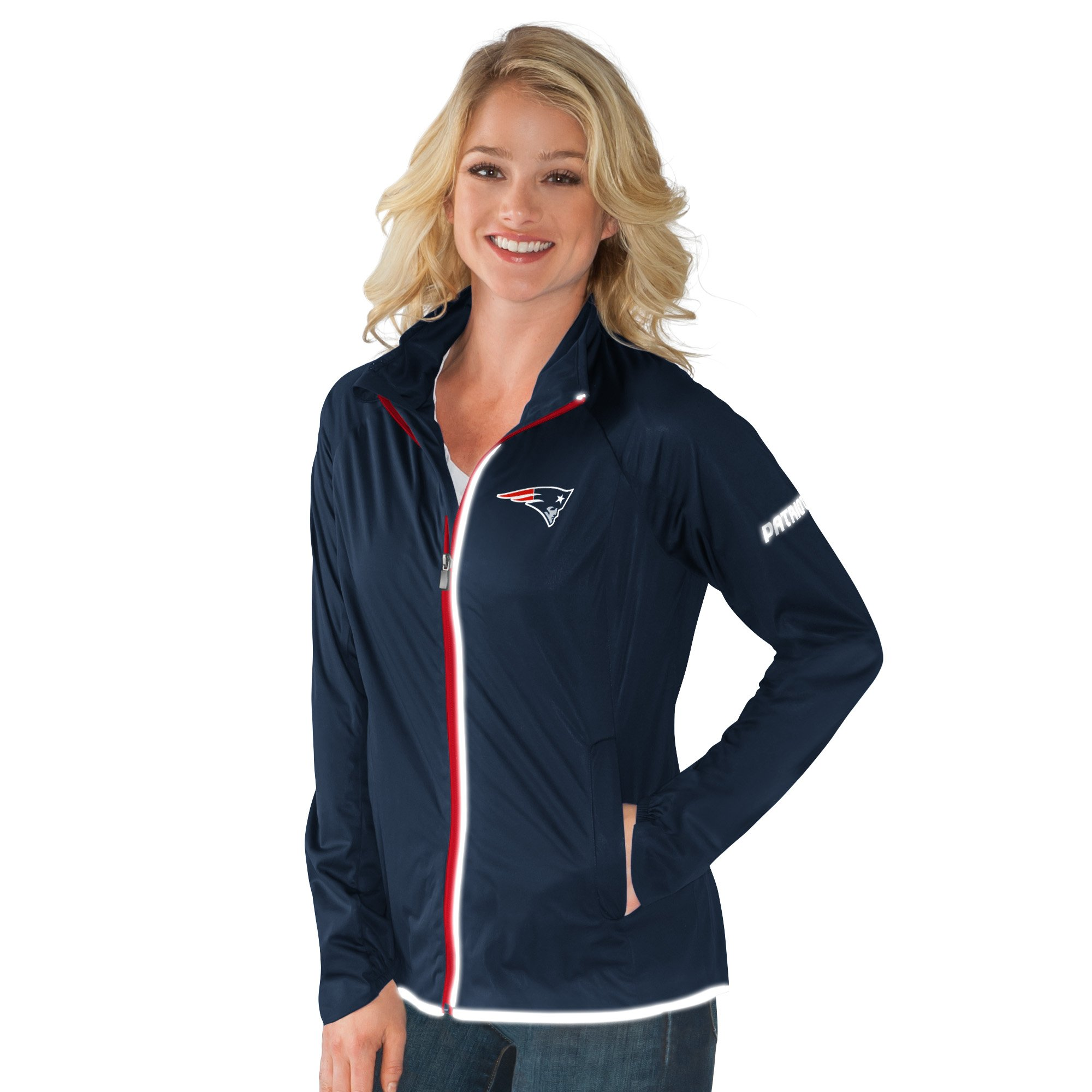 New England Patriots Team Colors Full Zip Women's Track Jacket by G-III Sports