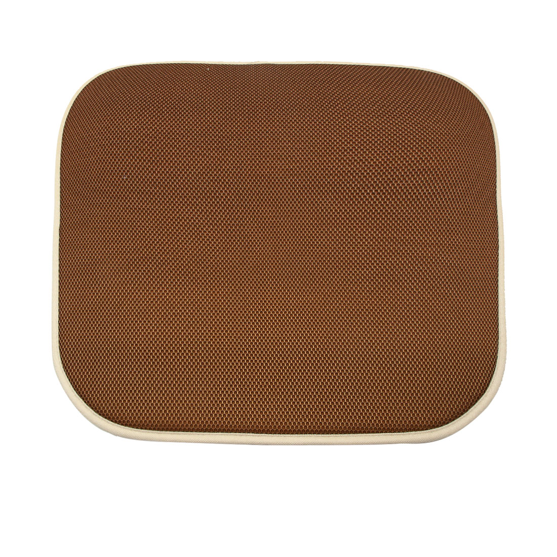 Universal Coffee Color Square Shaped Breathable Mesh Design Car Seat Cushion Mat - image 3 of 3
