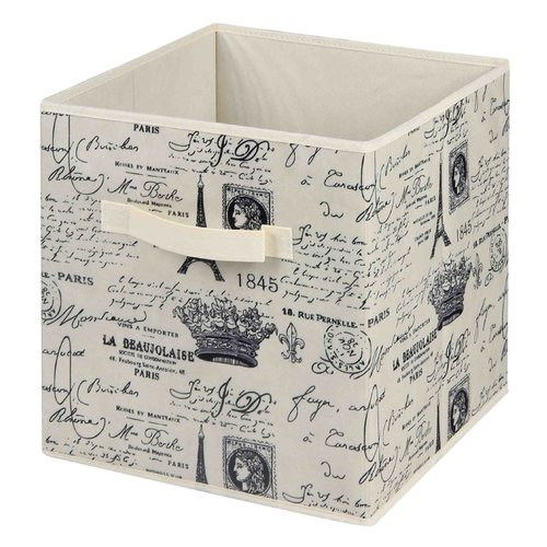 Home Basics Paris Non-Woven Storage Fabric Bin