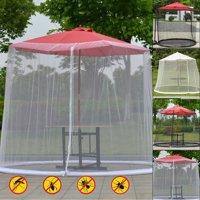 Outdoor Garden Umbrella Table Screen Parasol Mosquito Net Cover Bug Netting Cover Parasol Converter Cover Turn Your Parasol into a Gazebo