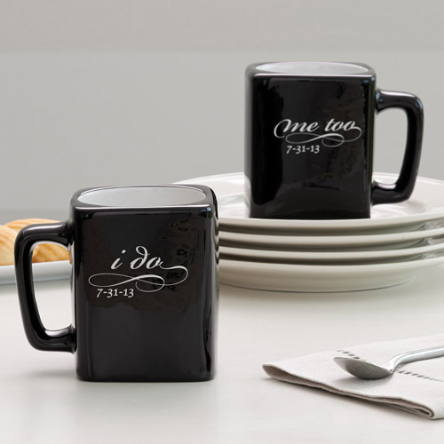 Personalized I Do, Me Too Couple Mugs