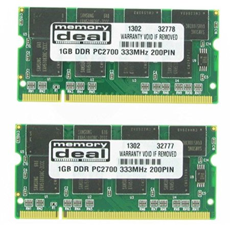 2GB (2x1GB) DDR SODIMM (200 pin) 333Mhz DDR333 PC2700 LAPTOP MEMORY RAM