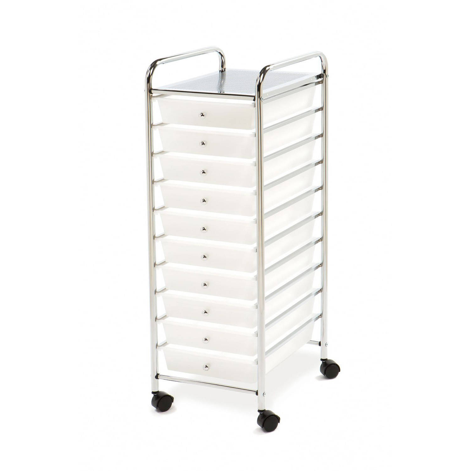 Seville Classics Large 10-Drawer Organizer Cart, Frosted White by Seville Classics