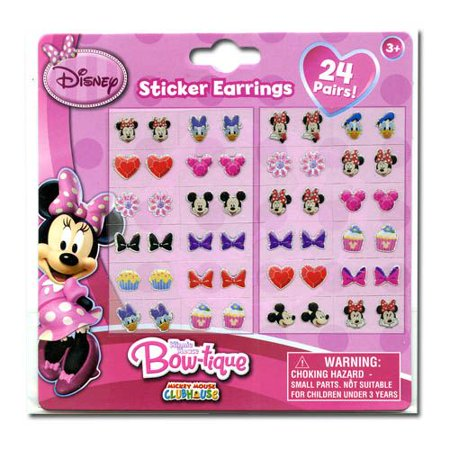 Disney Minnie Earrings Set - 24 Pair Sticker on - Disney Car Stickers