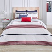 Lacoste Milady 3-Piece Reversible Full/Queen Duvet Cover Set in Red