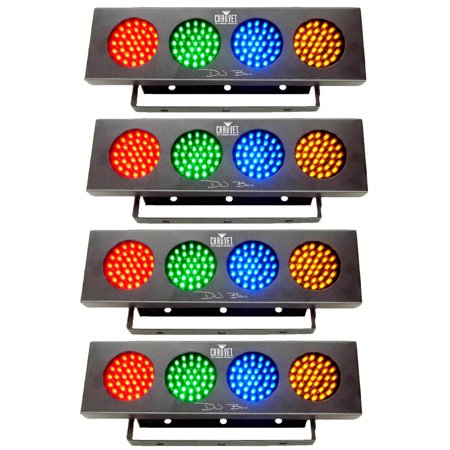 Chauvet DJ Bank RGBA 1LED Sound Active Light Strip Party Wash Effect (4 Pack) Chauvet Dj Bank