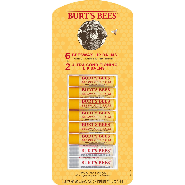 Burt's Bees 100% Natural Moisturizing Lip Balm, Variety Pack (0.15 oz., 8 ct.)