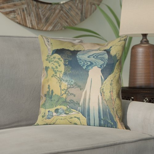 Bloomsbury Market Rinan Japanese Waterfall Suede Pillow Cover