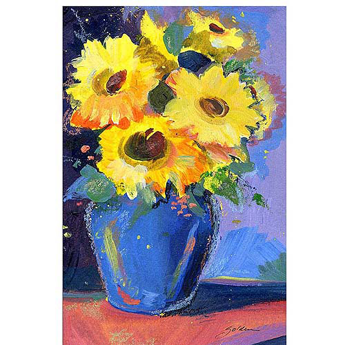 "Trademark Art ""Sunflowers II"" Canvas Art by Sheila Golden"