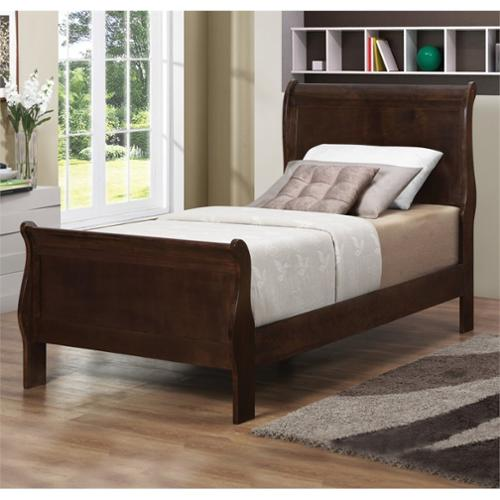 Coaster Louis Philippe Twin Sleigh Bed in Cappuccino by Coaster