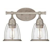 "Westinghouse 6350900 Weathered Steel North Shore 2 Light 15"" Wide Bathroom Vanity Light"