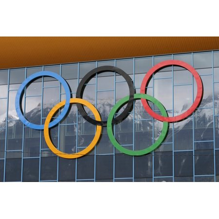 Canvas Print Olympic Rings Olympic Games Rings Olympiad Stretched Canvas 10 x 14](Olympic Rings Decorations)