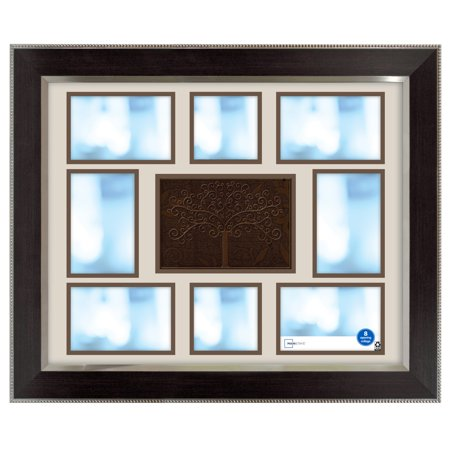 Mainstays 16 x 20 Family Tree Collage Frame, Espresso with Silver ()