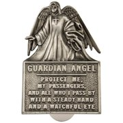 "Guardian angel ""Protect Me"" - Pewter Visor Clip"