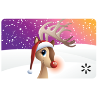 Red Nosed Reindeer Walmart Gift Card