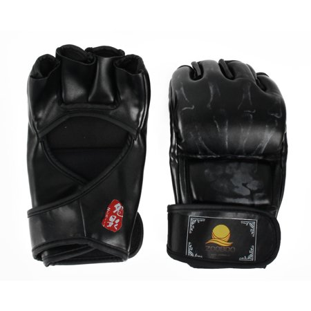 Zooboo Authorized Half-finger MMA Muay Training Fighting Boxing Gloves (Best Mma Gloves Brand)