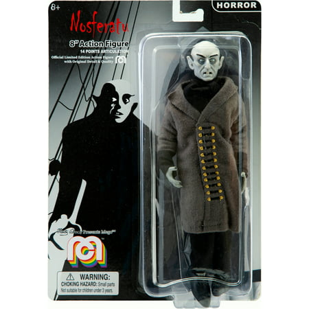 """8 Flocked Figure Limited Edition (Mego Action Figure, 8"""" Nosferatu, Count Orlok (Limited Edition Collector's Item) )"""