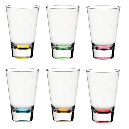 Majestic Crystal Confetti 14 oz. Highball Glass (Set of 6)