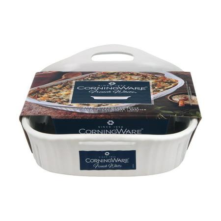 Corningware French White 3 Quart Oblong Casserole with Sleeve Dish, 1 Each