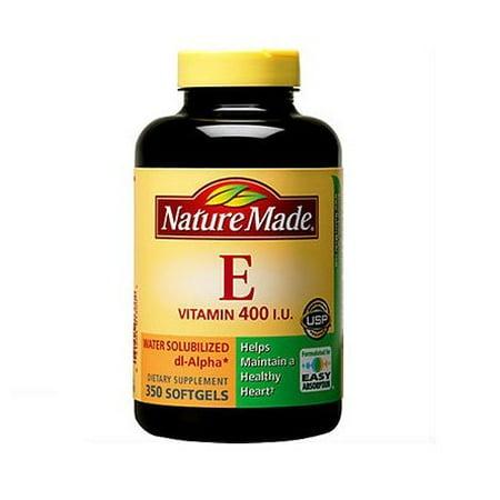 Nature Made La vitamine E 400 UI soluble dans l'eau 350 Gélules