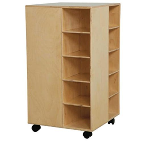 Wood Designs 61409LG Cubby Spinner With Lime Green Trays