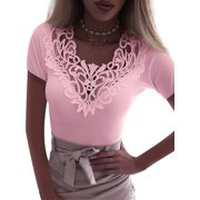 4-20 Summer Women Casual Lace Crochet Tank Tops Vest Blouse Crop Top Shirt Cami Tops Slim Fit Crop Tops