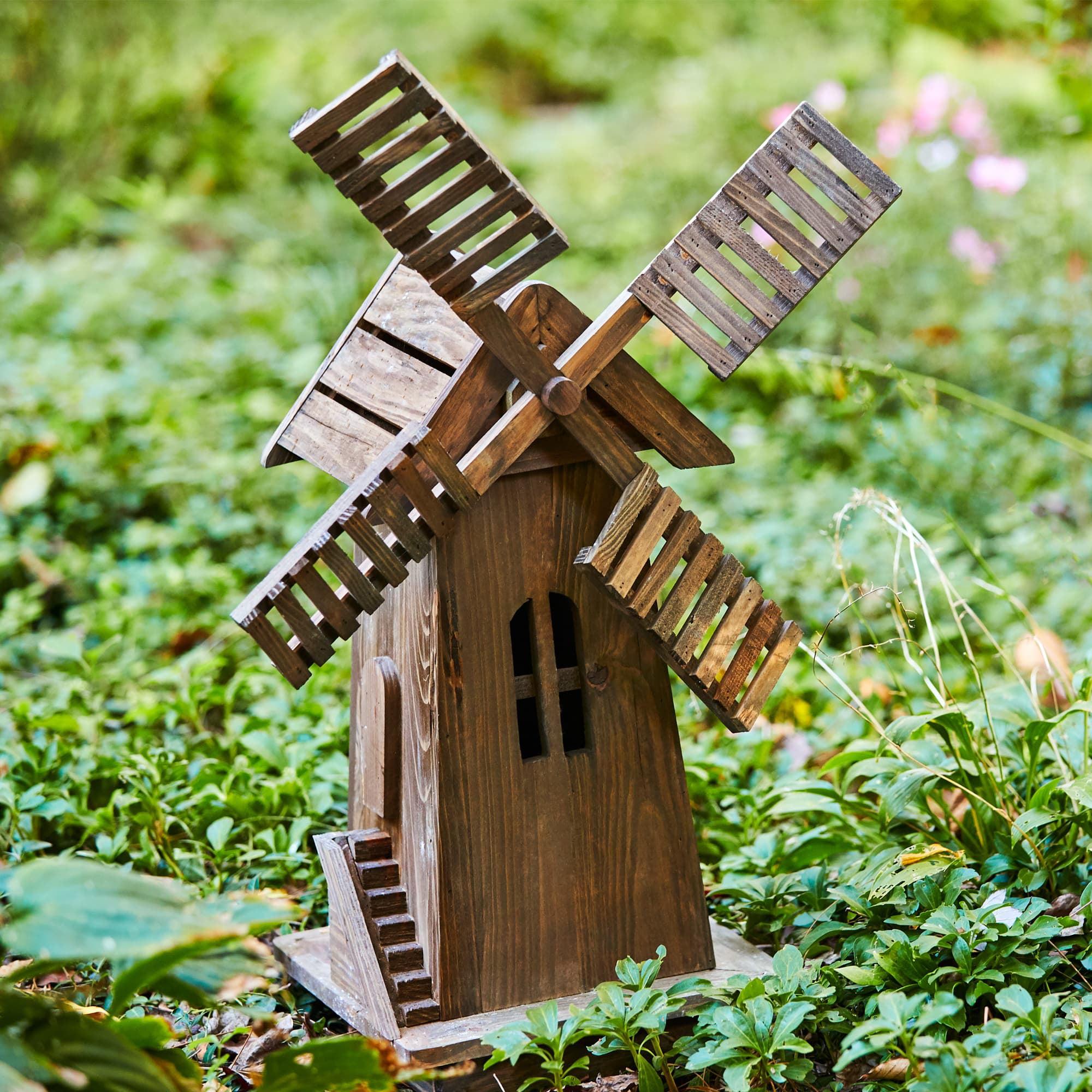 Shine Company Decorative Windmill - Barnwood - Walmart.com