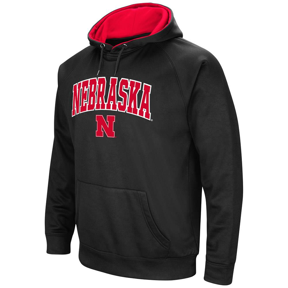 Mens Nebraska Cornhuskers Fleece Pull-over Hoodie by Colosseum