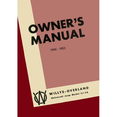 Bishko OEM Maintenance Owner's Manual Bound for Jeep Cj 3A 1949 - 1953 - Jeep Cj Owners Manual