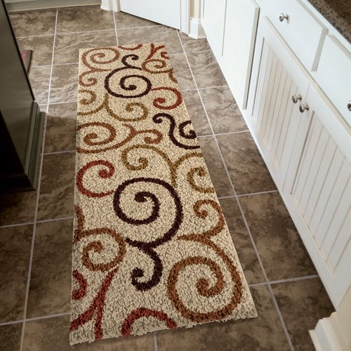Better Homes And Gardens Swirls Soft Shag Area Rug Or Runner Rug Walmart Com Walmart Com