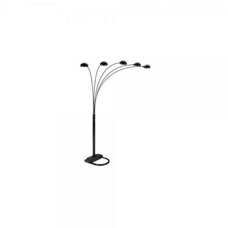 ore international 6962bk 5 arm arch floor lamp black. Black Bedroom Furniture Sets. Home Design Ideas