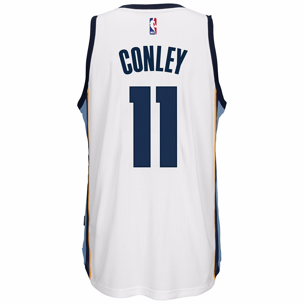 Mike Conley Jr Memphis Grizzlies NBA Adidas White Official Climacool Home Swingman Jersey For Men