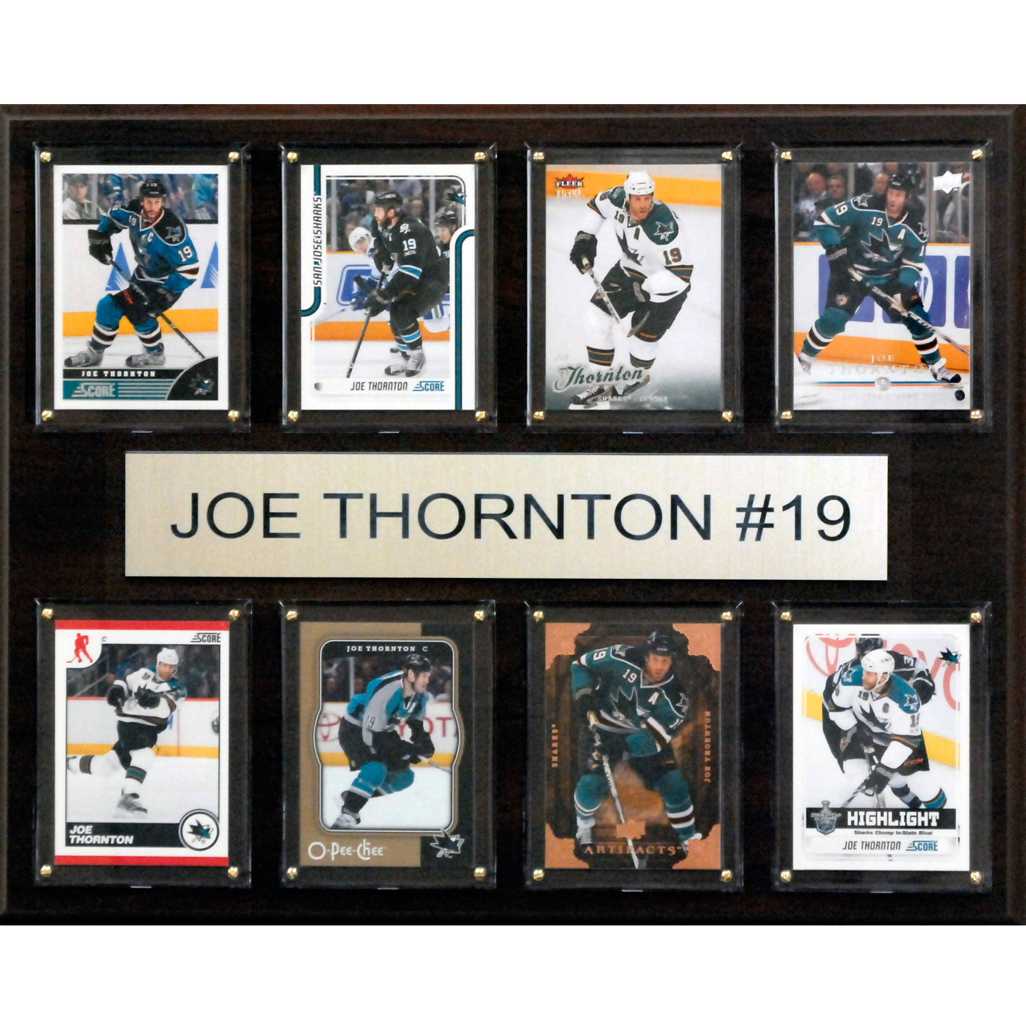 C&I Collectables NHL 12x15 Joe Thornton San Jose Sharks 8-Card Plaque