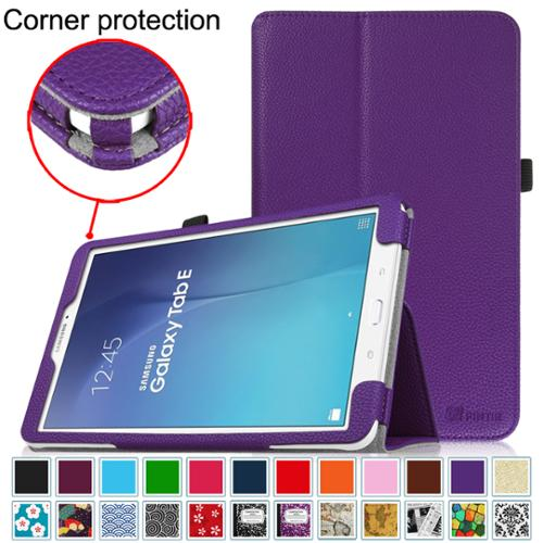 Samsung Galaxy Tab E 9.6 / Tab E Nook 9.6 Inch Tablet Folio Case - Fintie Slim Fit PU Leather Stand Cover, Violet