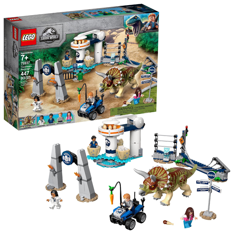 LEGO Jurassic World Triceratops Rampage 75937 Dinosaur Toy
