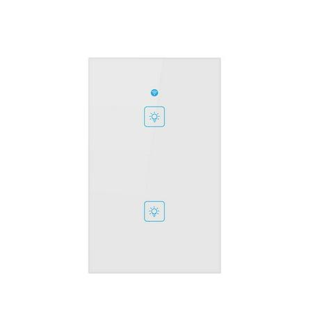 Wireless Smart Wall Power Switch Touch Control WiFi Light Switch Support Alexa Google Assistant US Plug (Scart Switch)