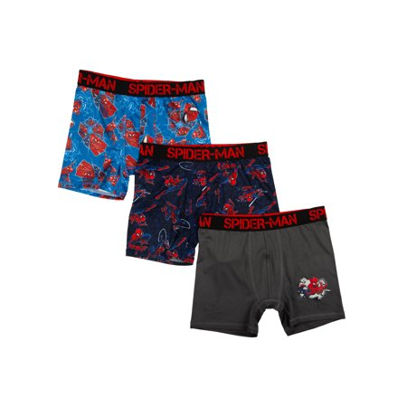 Spiderman Poly Boxer Briefs, 3 Pack (Big Boys & Little Boys)